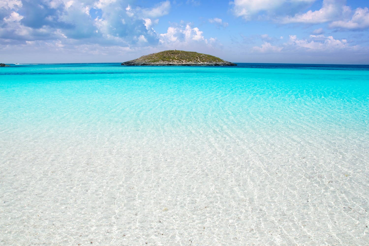 Formentera beach illetas a white sand with turquoise water perfect Balearic paradise